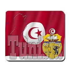 Silky Flag of Tunisia Mousepad