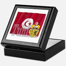 Silky Flag of Tunisia Keepsake Box