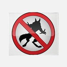 No Werewolves Throw Blanket