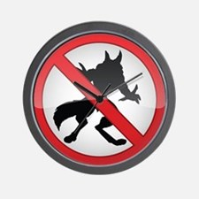 No Werewolves Wall Clock