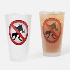 No Werewolves Drinking Glass