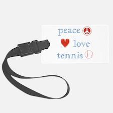 Peace Love Tennis Luggage Tag
