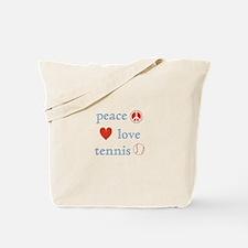 Peace Love Tennis Tote Bag