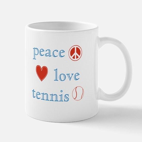 Peace Love Tennis Mug
