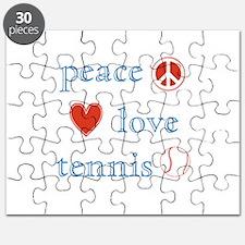 Peace Love Tennis Puzzle