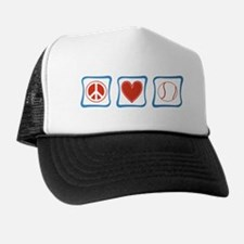 Peace Love Tennis Trucker Hat
