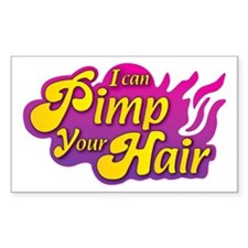 I Can Pimp Your Hair Rectangle Decal
