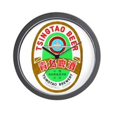China Beer Label 1 Wall Clock