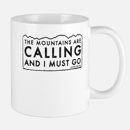 John Muir Mountains Calling Mug
