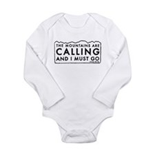 John Muir Mountains Calling Long Sleeve Infant Bod