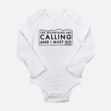 John Muir Mountains Calling Onesie Romper Suit