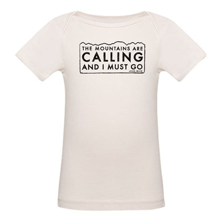 John Muir Mountains Calling Organic Baby T-Shirt