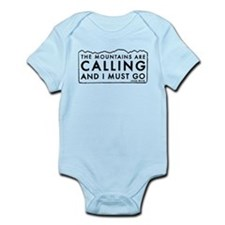 John Muir Mountains Calling Infant Bodysuit