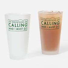 John Muir Mountains Calling Drinking Glass
