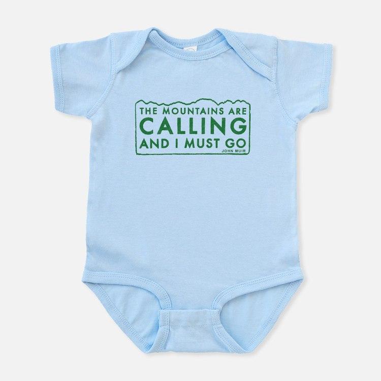 John Muir Mountains Calling Infant Bodysuit