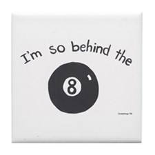 Eight Ball Tile Coaster