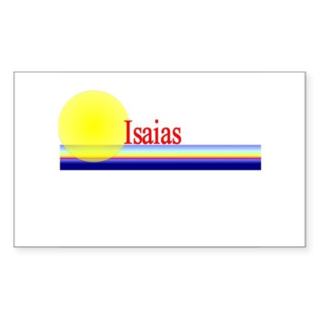Isaias Rectangle Sticker