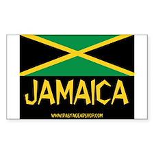Jamaican Rasta Rectangle Decal