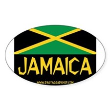 Jamaican Rasta Oval Decal