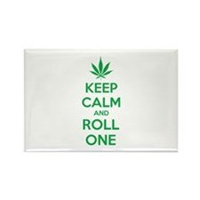 Keep calm and roll one Rectangle Magnet (10 pack)