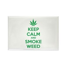 Keep calm and smoke weed Rectangle Magnet