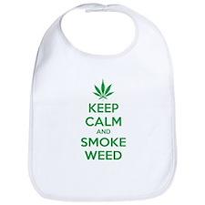 Keep calm and smoke weed Bib