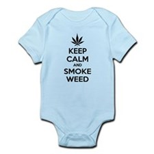 Keep calm and smoke weed Infant Bodysuit