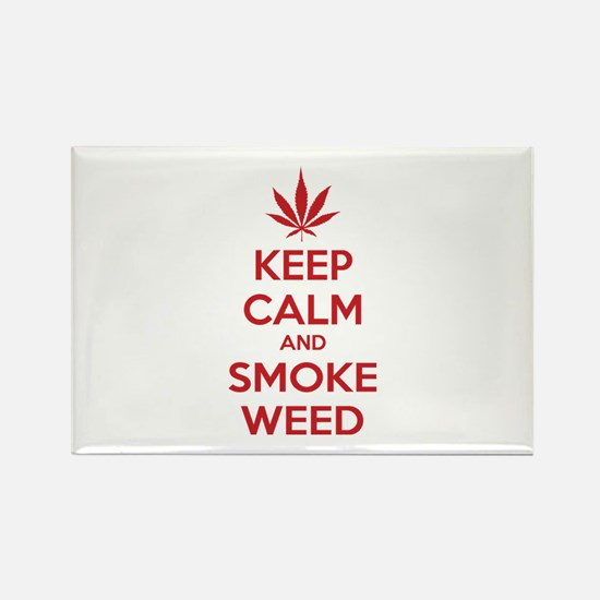 Keep calm and smoke weed Rectangle Magnet