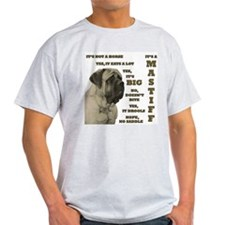 Mastiff FAQ Ash Grey T-Shirt