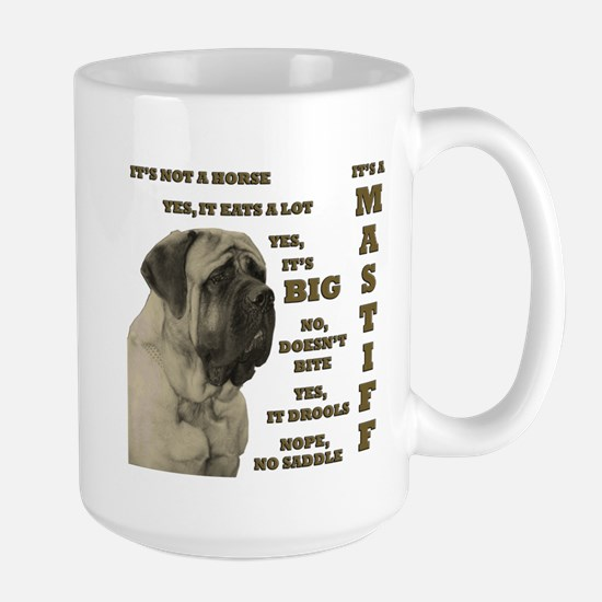 Mastiff FAQ Large Mug