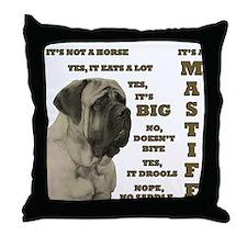 Mastiff FAQ Throw Pillow