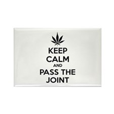 Keep calm and pass the joint Rectangle Magnet
