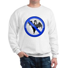 Blue No Entry Ghosts Sign Sweatshirt