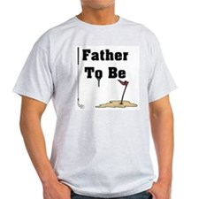 Golf Father To Be Ash Grey T-Shirt