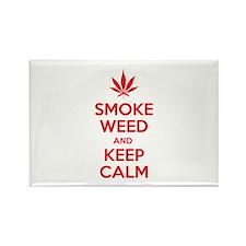 Smoke weed and keep calm Rectangle Magnet