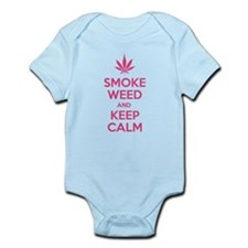 Smoke weed and keep calm Infant Bodysuit