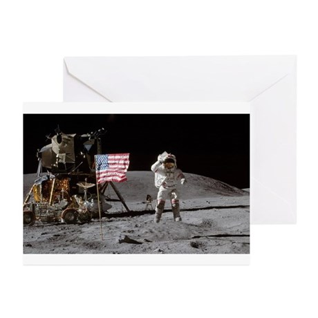 RightPix Moon F1 Greeting Cards (Pk of 10)