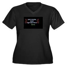Jasper Hale Women's Plus Size V-Neck Dark T-Shirt