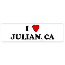 I Love JULIAN Bumper Bumper Sticker