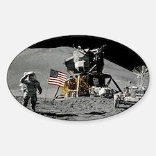 Apollo Moon Flag Salute USA Decal