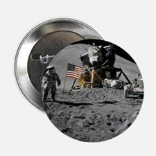 "Apollo Moon Flag Salute USA 2.25"" Button (10 pack)"