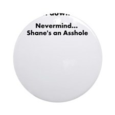 Shanes an ahole Ornament (Round)