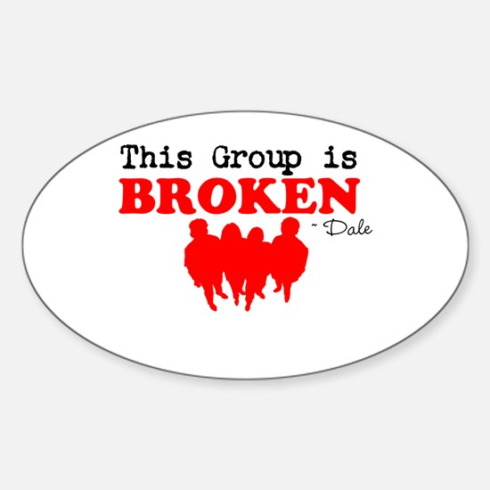 Broken Sticker (Oval)