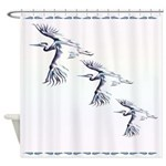 Shower Curtain Flying Cranes Shower Curtain