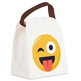 Emojione Canvas Lunch Bag