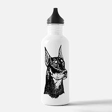 DOBERMAN HEAD Water Bottle