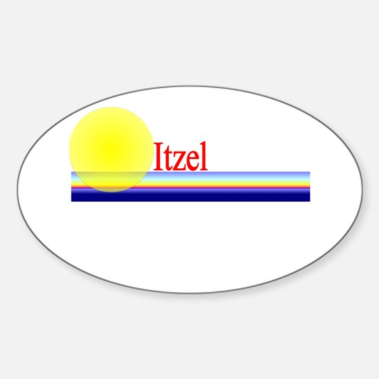 Itzel Oval Decal