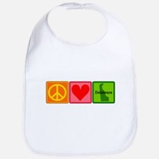 Peace Love Delaware Bib