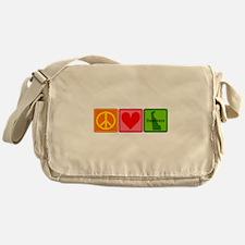 Peace Love Delaware Messenger Bag