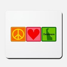 Peace Love Delaware Mousepad